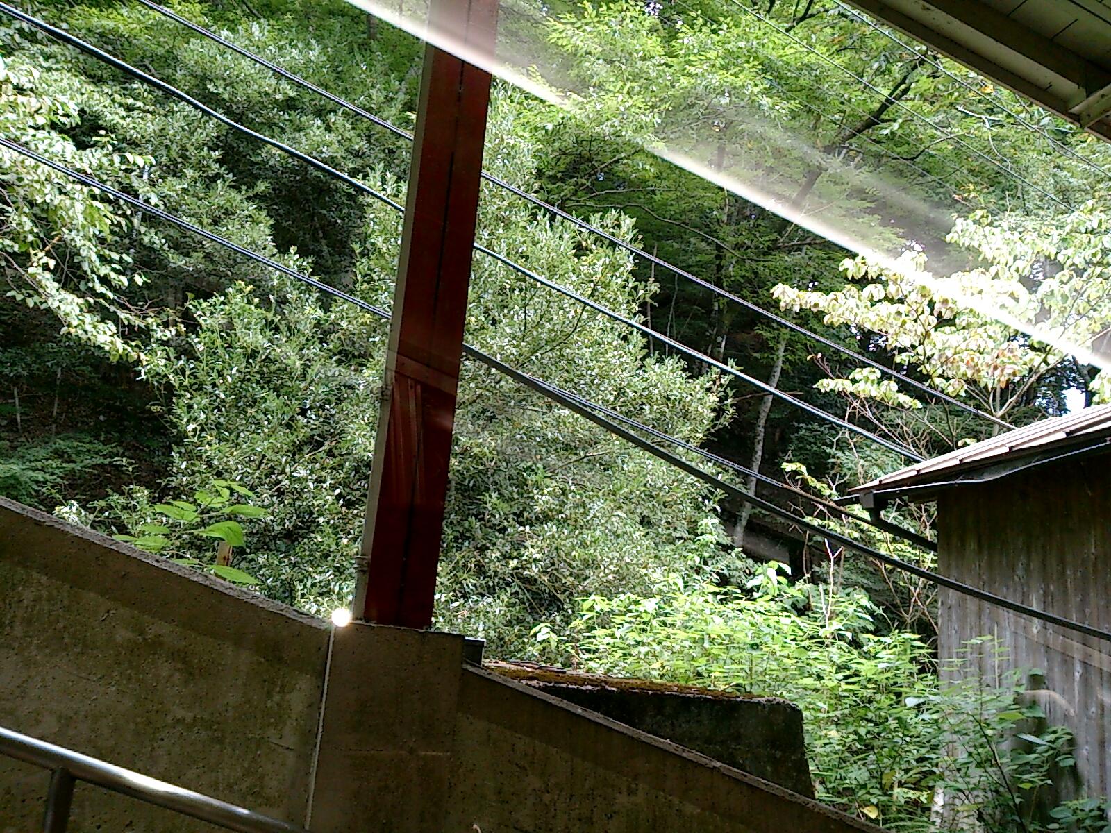南海電車高野山行きケーブルカー