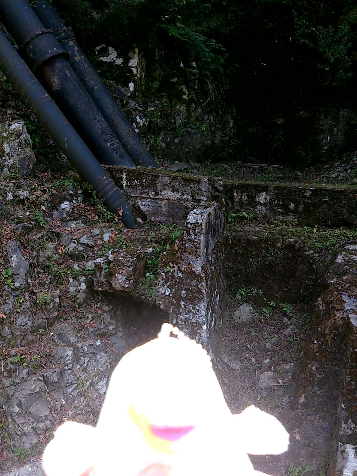武田尾の枯れた滝