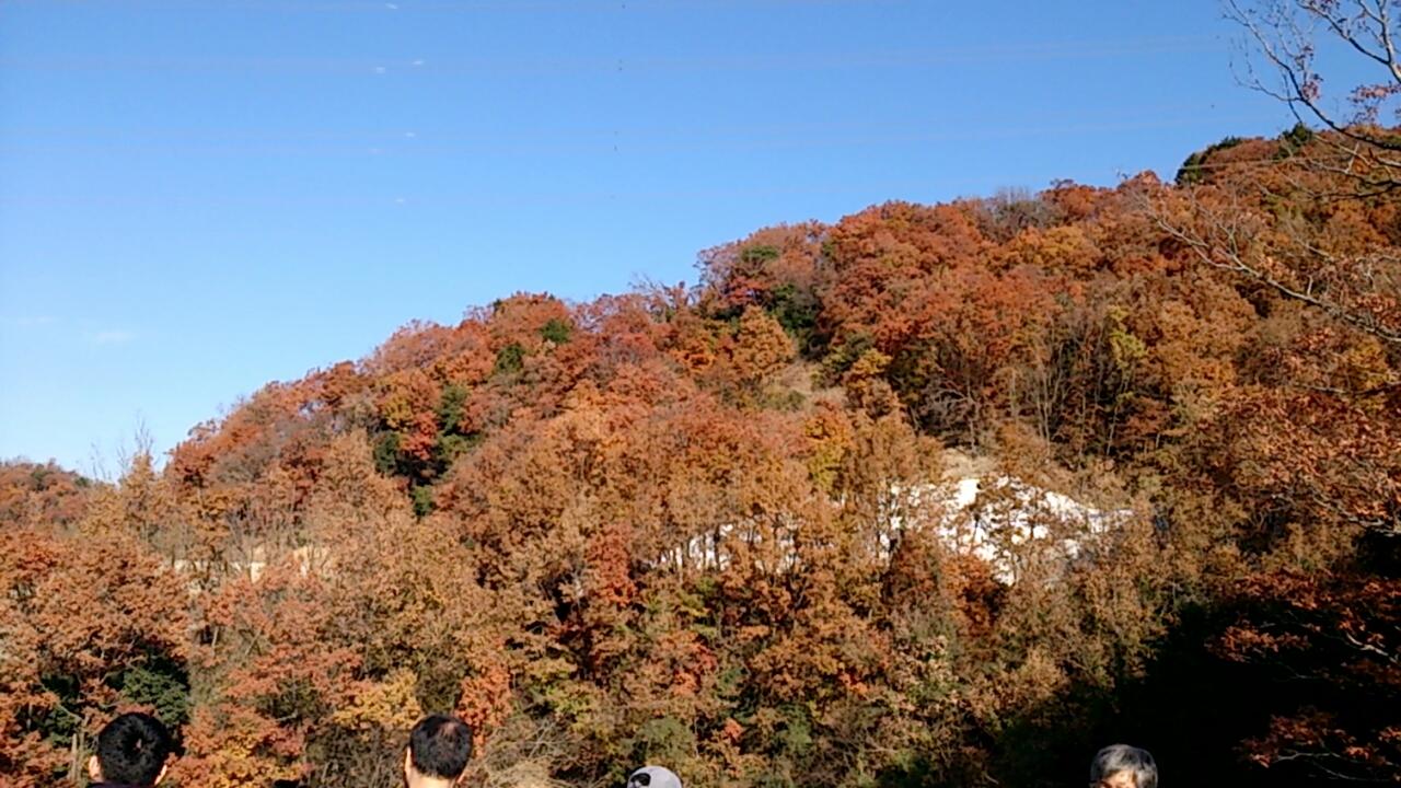 箕面とどろみIC出口付近の山々