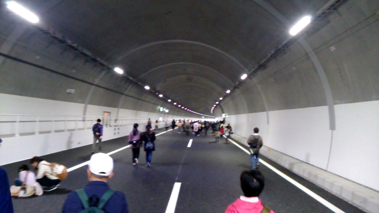 川西トンネル内