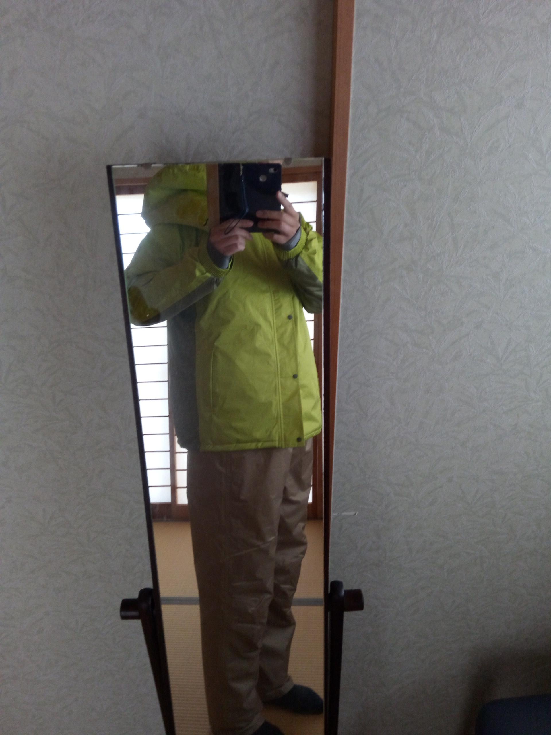 ワークマンの防水防寒具の全身1