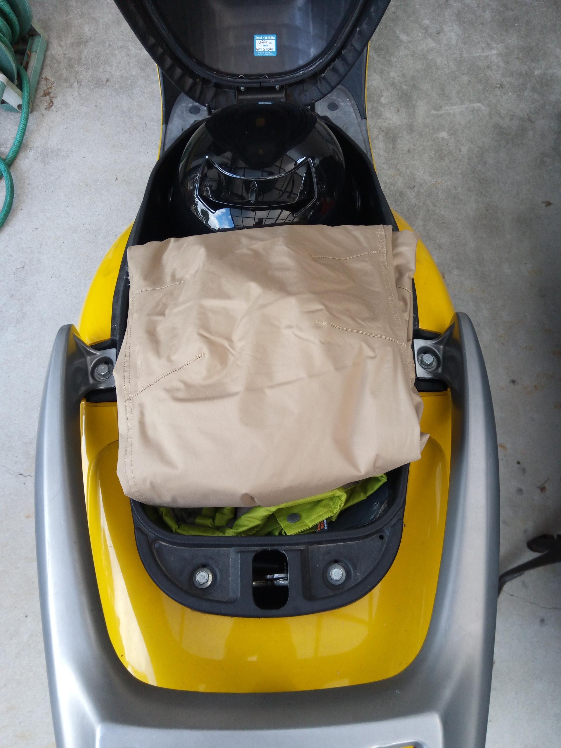 ワークマンの防水防寒具を入れた状態1