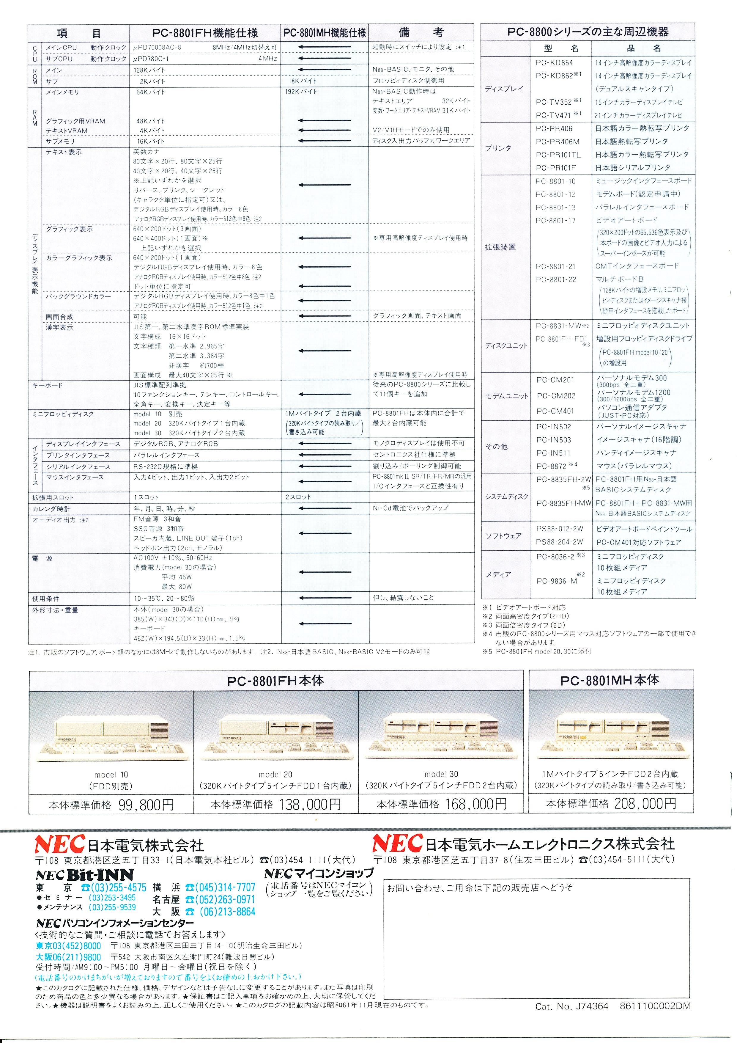 PC-8801MH/FH P8